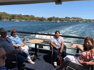 Cruising down the Swan River