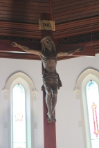 Our newly-installed crucifix